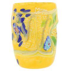 Modern Art Murano Glass Tumbler - Yellow