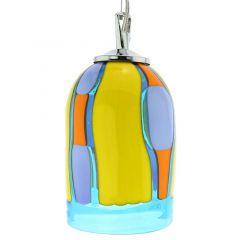 Murano Glass Pendant Light - Blue Lagoon