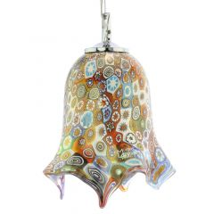 Murano Glass Fazzoletto Pendant Light - Millefiori