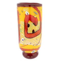 Modern Art Murano Glass Vase - Yellow