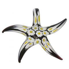 Black Daisy Starfish Pendant