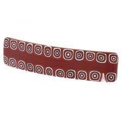 Murano Millefiori Hair Clip - Red