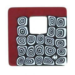 Modern Millefiori Square Pendant - Red