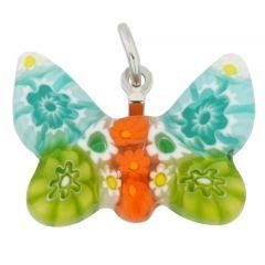 Millefiori Small Butterfly Pendant