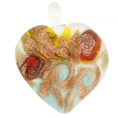 Tender Heart Pendant - Blue Twist