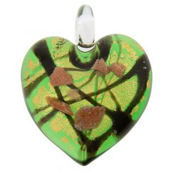 Tender Heart Pendant - Emerald