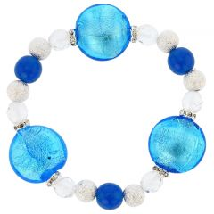 Murano Magic Bracelet - Aqua Blue