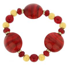 Murano Magic Bracelet - Red Marble