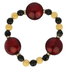 Murano Magic Bracelet - Ruby Red