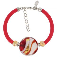 Venice Diva Bracelet - Red and Gold