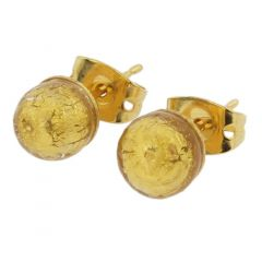Murano Tiny Stud Earrings - Gold