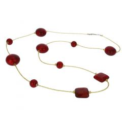 Lucia Murano Necklace - Ruby Red