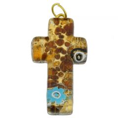 Venetian Reflections Cross Pendant #2