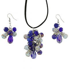 Venetian Charms Murano Jewelry Set - Blue