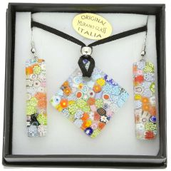 Murano Glass Millefiori Jewelry Set #2