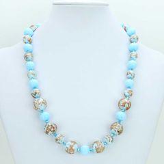 Starlight Murano Necklace - Aqua