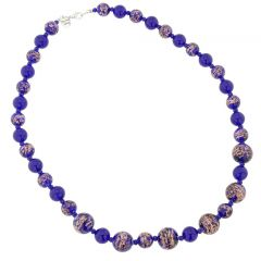 Starlight Murano Necklace - Navy Blue