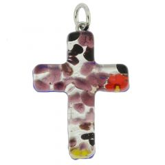 Venetian Reflections Cross Pendant #1