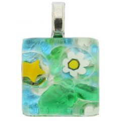 Venetian Reflections Square Pendant #2