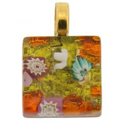 Venetian Reflections Square Pendant #3