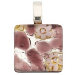 Venetian Reflections Square Pendant #8