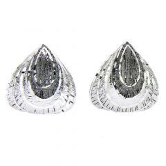 Fancy Fan Sterling Silver Earrings