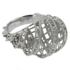 Merletto Italian Sterling Silver Ring