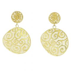 Graceful Twists Sterling Silver Gold-Plated Earrings