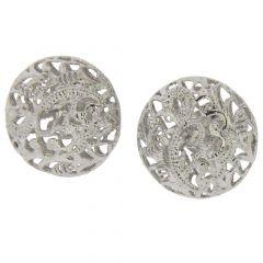 Italian Lace Sterling Silver Earrings