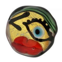 Murano Glass Picasso Face Ring