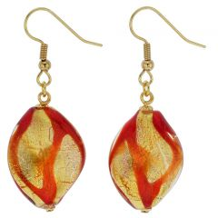 Royal Red Spiral Earrings