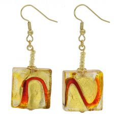Royal Red Squares Earrings