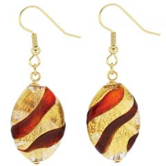 Royal Red Oval Earrings