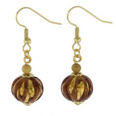 Royal Purple Ball Earrings