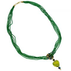 Green Gold Heart Necklace