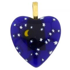 Millefiori Heart Pendant Medium - Starry Night