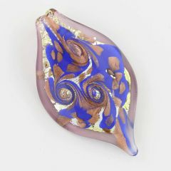 Leaf in Swirls Pendant - Light Purple
