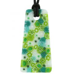 Matte Millefiori Necklace - Green