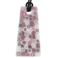 Matte Millefiori Necklace - Pink