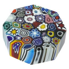 Murano Millefiori Murano Glass Millefiori Octagon - Medium