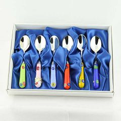 Set of 6 Mosaico coffee spoons