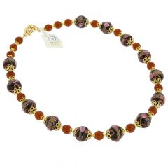 Necklace Venezia - Golden Brown