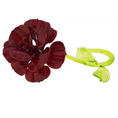 Murano Glass Red Flower