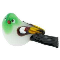 Murano Glass Baby Bird - Green