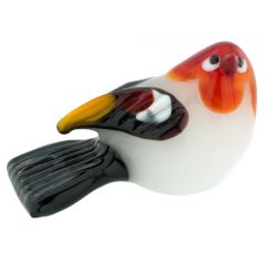 Murano Glass Baby Bird - Fire Red