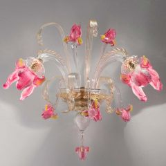 Iris Murano Glass Sconce