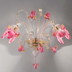 Iris Murano Glass Sconce