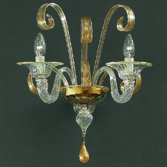 Pastorale Up Facing Murano Glass Sconce