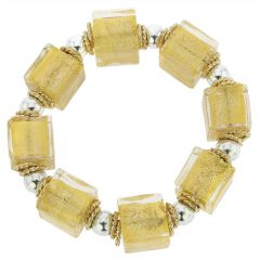 Brillio Venetian Cubes Bracelet - Gold