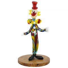 Murano Glass Clown on a Base